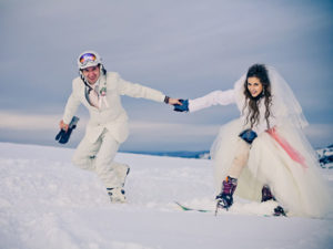 Свадьба на лыжах